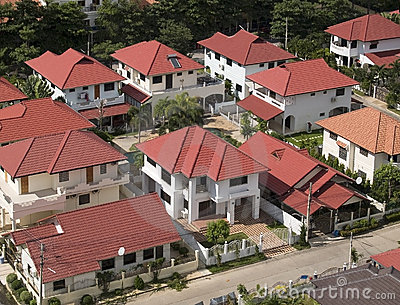 Aerial view of residential are