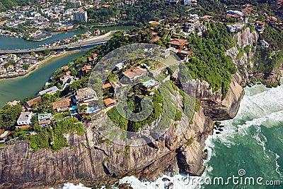 Aerial view of the Rio De Janeiro Coast