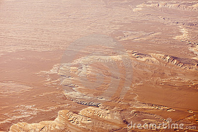 Aerial view of sahara