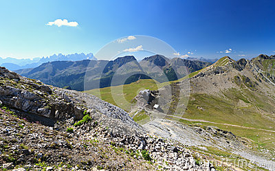 Selle pass aerial view