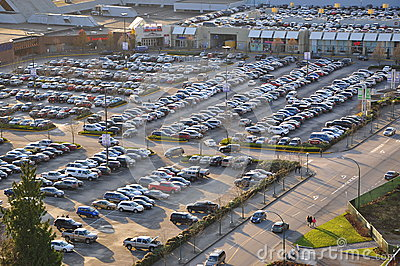 Car crowded parking place Editorial Image