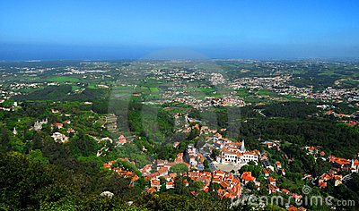 Aerial view of Sintra Portugal