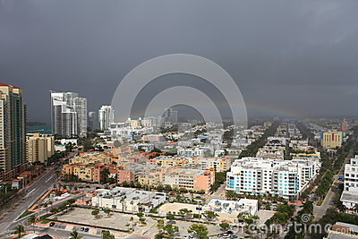 Aerial View South Beach Storm