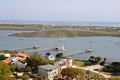 Aerial View of St Augustine, Florida