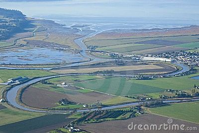 Aerial View of Stanwood Washington