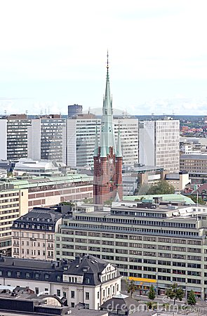 Aerial view of the Stockholm City Sweden