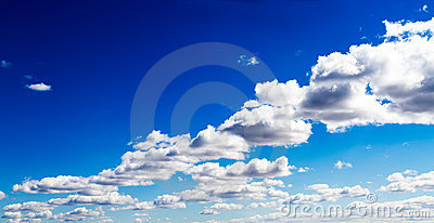 Aerial View of Surreal Clouds in Vivid Blue Sky