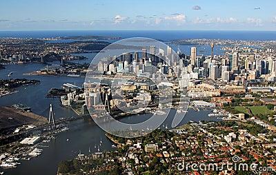Aerial view of Sydney, Australia Editorial Stock Image