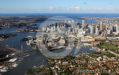 Aerial view of Sydney, Australia Editorial Stock Image