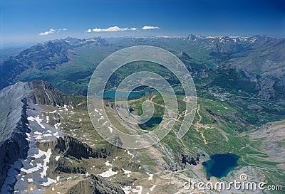 Aerial view of Tendenera mountains
