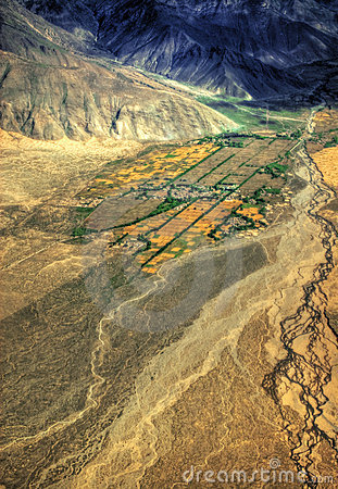 Aerial View of Tibet