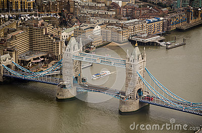 Aerial View, Tower Bridge, London