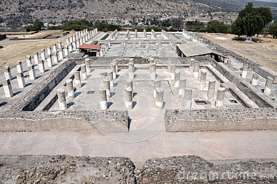 Aerial view of Tula ruins, Mexico
