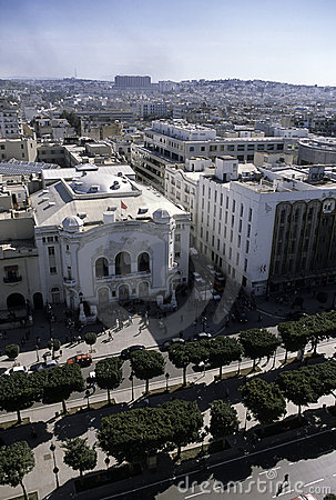 Aerial view- Tunis, Tunisia