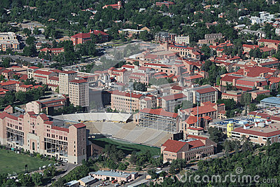 Aerial View of University of Colorado