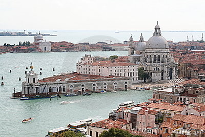 An aerial view of Venice - Italy