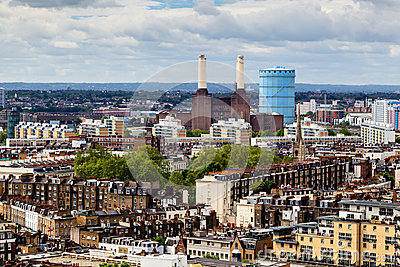 Aerial View from Westminster Cathedral