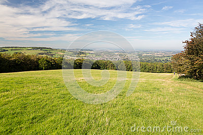 Aerial view of Winchcombe from Belas Nap