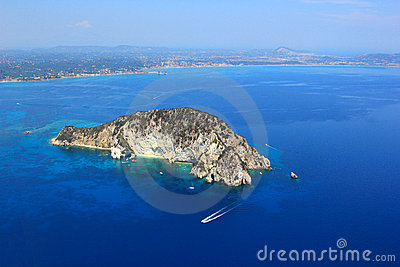 Aerial view on Zakynthos island