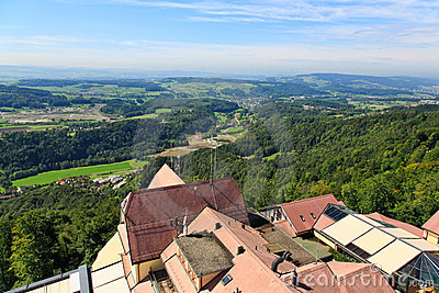 The aerial view of Zurich Countryside
