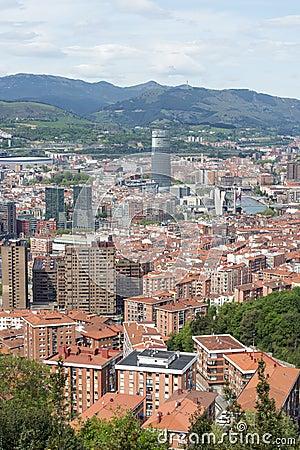 Free Aerial Views Of City Center Bilbao, Bizkaia, Basque Country, Spa Stock Images - 53354474