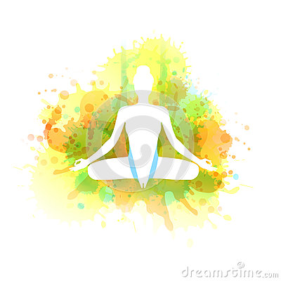 Aero yoga illustration. Vector watercolor. Vector Illustration