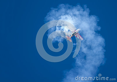 Aerobatic aircraft in a spin