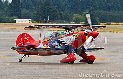 Aerobatic airplane, Lewis-McChord Air Expo Editorial Stock Image