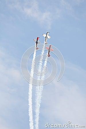 Aerobatic airplanes at airshow