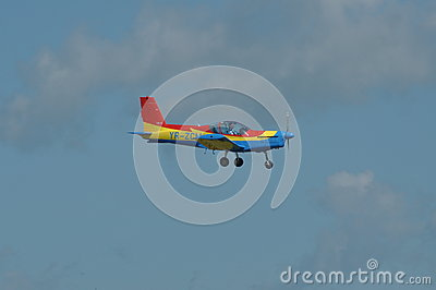 Aerobatic airplanes flying during an air show in Cluj Napoca, Romania Editorial Image