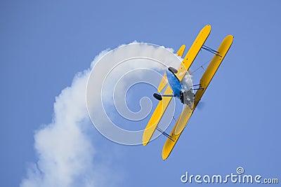 Aerobatic bi plane airplane