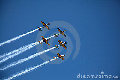 Aerobatic display on Brazil Independence Day Editorial Image