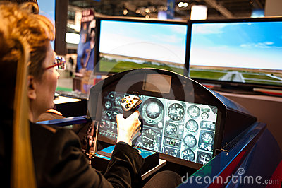 Aerobatic flight simulator Editorial Image