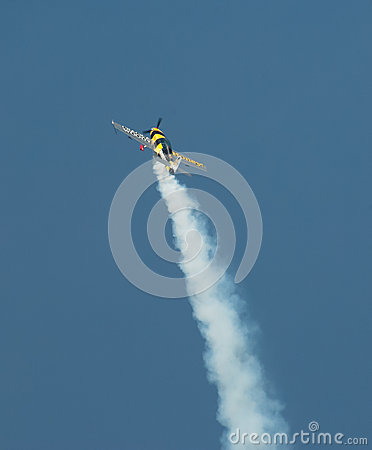 Aerobatic plane Editorial Stock Image