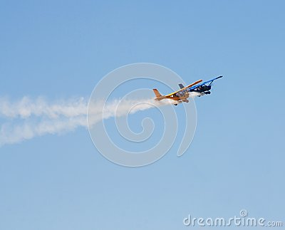 Aerobatic planes Editorial Stock Image