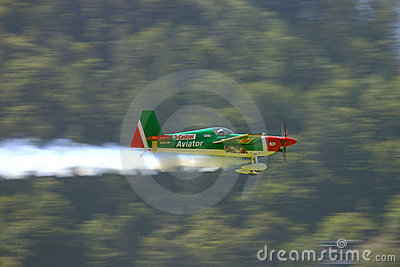 Aerobatics airplane Editorial Stock Photo