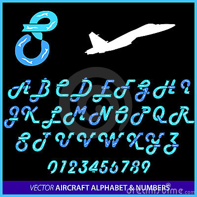 Aerobatics in an airplane alphabet