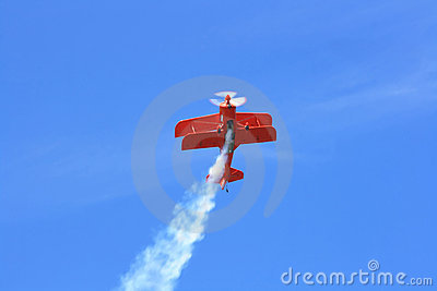 Aerobatics flight.