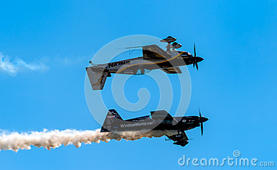 Aerobatics performance Editorial Stock Image