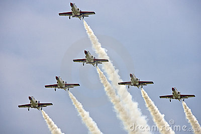Aerobatics Team display at airshow