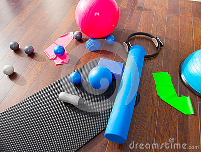 Aerobic Pilates stuff mat balls roller magic ring