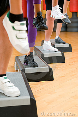 Aerobic step exercise detail