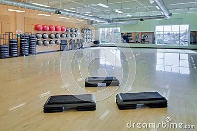 Aerobic steps in gym