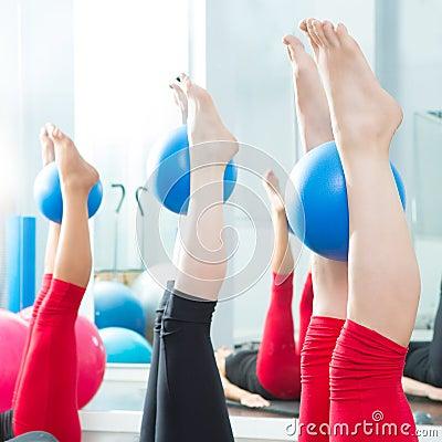Free Aerobics Pilates Women Feet With Yoga Balls Royalty Free Stock Photo - 26815685