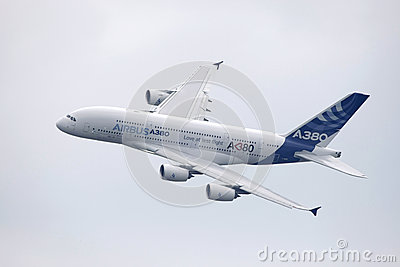 Aerobus a380 Fotografia Editorial