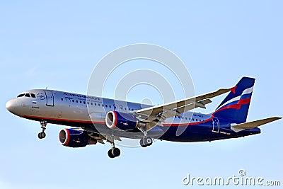 Aeroflot Airbus A320 Editorial Photo