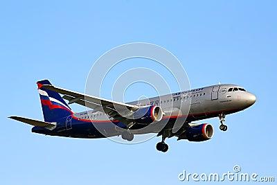 Aeroflot Airbus A320 Editorial Photography