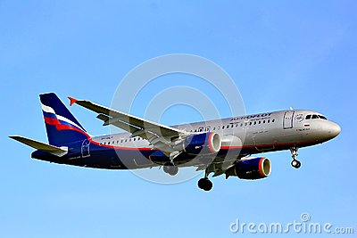 Aeroflot Airbus A320 Editorial Photo