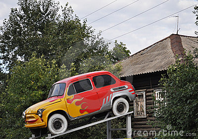 Aerography, symbols of the fire, Mini car