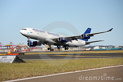 Aerolineas Argentinas Airbus A340 taking off. Editorial Photo
